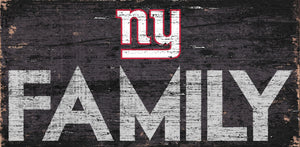 New York Giants Family Wood Sign