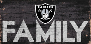 Oakland Raiders Family Wood Sign