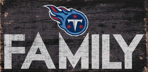 Tennessee Titans Family Wood Sign