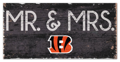 Cincinnati Bengals Mr. & Mrs. Wood Sign - 6