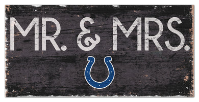 Indianapolis Colts Mr. & Mrs. Wood Sign - 6