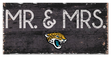 Jacksonville Jaguars Mr. & Mrs. Wood Sign - 6