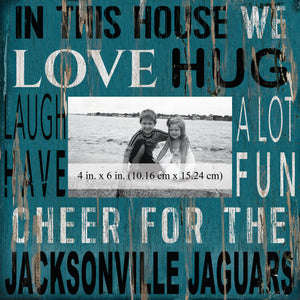 Jacksonville Jaguars In this House Picture Frame