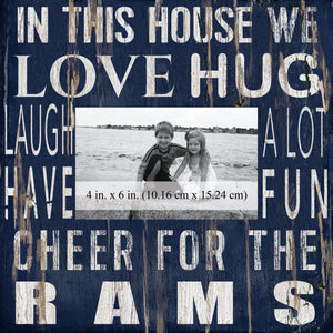 Los Angeles Rams In this House Picture Frame