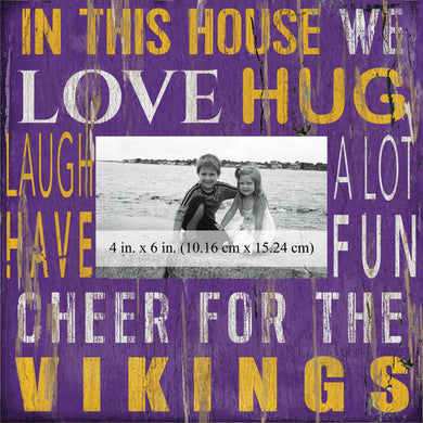 Minnesota Vikings In this House Picture Frame