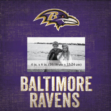 Baltimore Ravens Team Logo Picture Frame