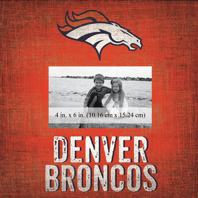 Denver Broncos Team Logo Picture Frame