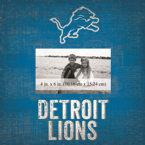 Detroit Lions Team Logo Picture Frame