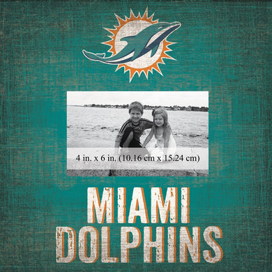 Miami Dolphins Team Logo Picture Frame
