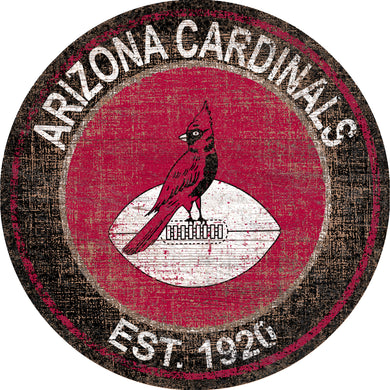 Arizona Cardinals Heritage Logo Round Sign - 24