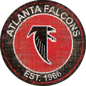 Atlanta Falcons Heritage Logo Round Sign - 24""