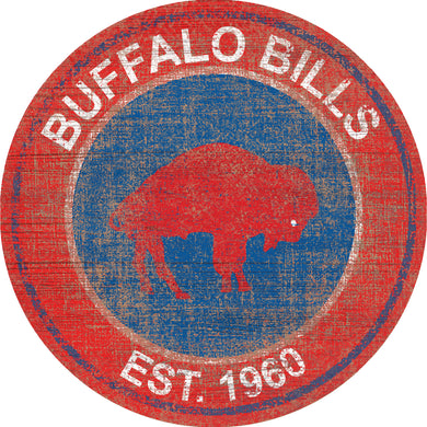 Buffalo Bills Heritage Logo Round Sign - 24