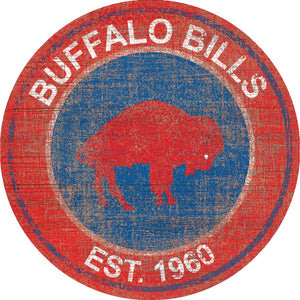 Buffalo Bills Heritage Logo Round Sign - 24""