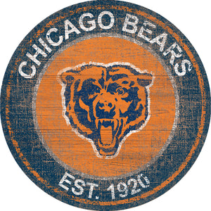 Chicago Bears Heritage Logo Round Sign - 24""