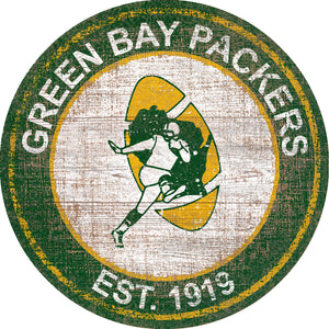 Green Bay Packers Heritage Logo Round Sign - 24""