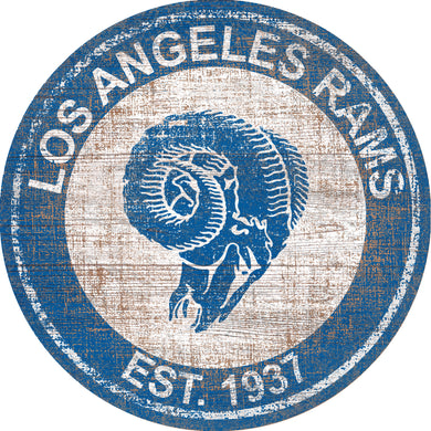 Los Angeles Rams Heritage Logo Round Sign - 24