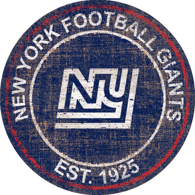 New York Giants Heritage Logo Round Sign - 24
