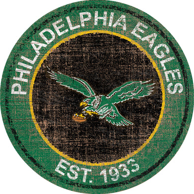 Philadelphia Eagles Heritage Logo Round Sign - 24