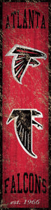 "Atlanta Falcons Heritage Banner Vertical Sign - 6""x24"""