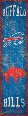 Buffalo Bills Heritage Banner Vertical Sign - 6