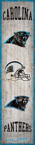 "Carolina Panthers Heritage Banner Vertical Sign - 6""x24"""
