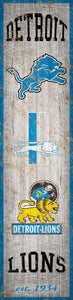 "Detroit Lions Heritage Banner Vertical Sign - 6""x24"""