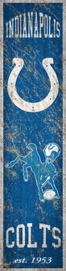 Indinapolis Colts Heritage Banner Vertical Sign - 6