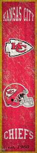 "Kansas City Chiefs Heritage Banner Vertical Sign - 6""x24"""