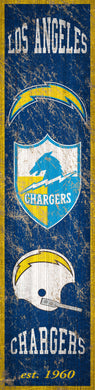 Los Angeles Chargers Heritage Banner Vertical Sign - 6