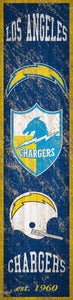 "Los Angeles Chargers Heritage Banner Vertical Sign - 6""x24"""