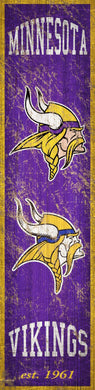 Minnesota Vikings Heritage Banner Vertical Sign - 6