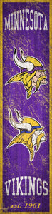 "Minnesota Vikings Heritage Banner Vertical Sign - 6""x24"""