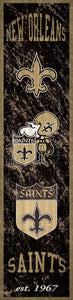 "New Orleans Saints Heritage Banner Vertical Sign - 6""x24"""