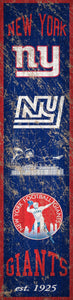 "New York Giants Heritage Banner Vertical Sign - 6""x24"""