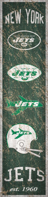 New York Jets Heritage Banner Vertical Sign - 6