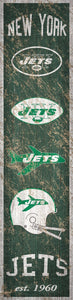 "New York Jets Heritage Banner Vertical Sign - 6""x24"""