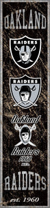 "Oakland Raiders Heritage Banner Vertical Sign - 6""x24"""