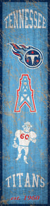 "Tennessee Titans Heritage Banner Vertical Sign - 6""x24"""