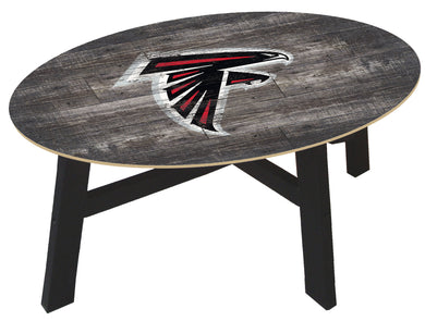 Atlanta Falcons Distressed Wood Coffee Table