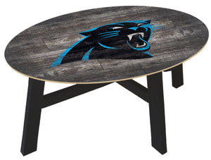 Carolina Panthers Distressed Wood Coffee Table