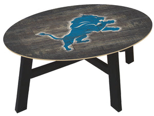 Detroit Lions Distressed Wood Coffee Table