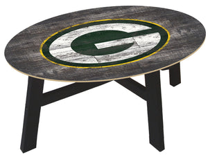 Green Bay Packers Distressed Wood Coffee Table