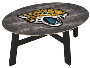 Jacksonville Jaguars Distressed Wood Coffee Table