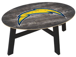 Los Angeles Chargers Distressed Wood Coffee Table