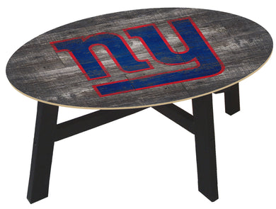 New York Giants Distressed Wood Coffee Table