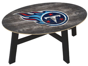 Tennessee Titans Distressed Wood Coffee Table