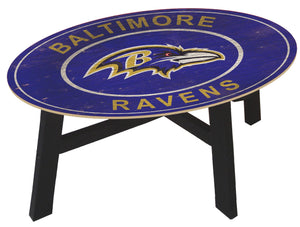 Baltimore Ravens Heritage Logo Wood Coffee Table