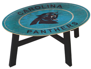 Carolina Panthers Heritage Logo Wood Coffee Table