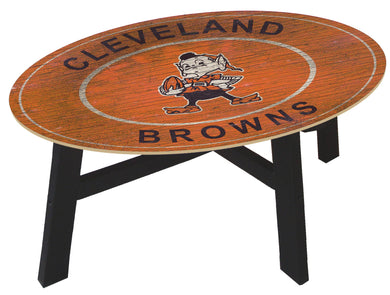 Cleveland Browns Heritage Logo Wood Coffee Table