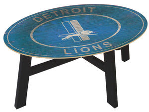 Detroit Lions Heritage Logo Wood Coffee Table